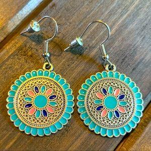 💥HOST PICK💥Retro Kaleidoscope Drop Earrings